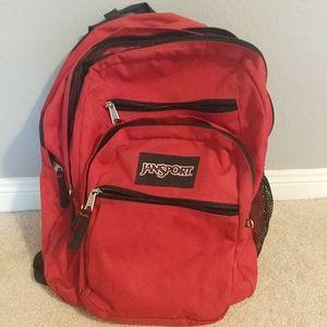 Jansport red backpack